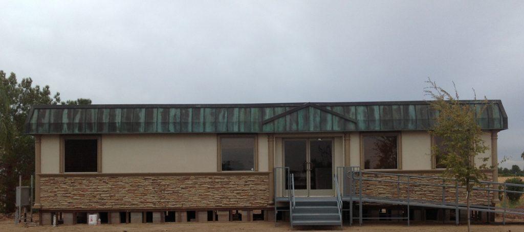copper mansard on modular building