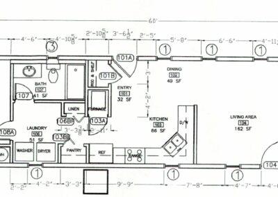 IHS Modular IRC employee housing floorplan