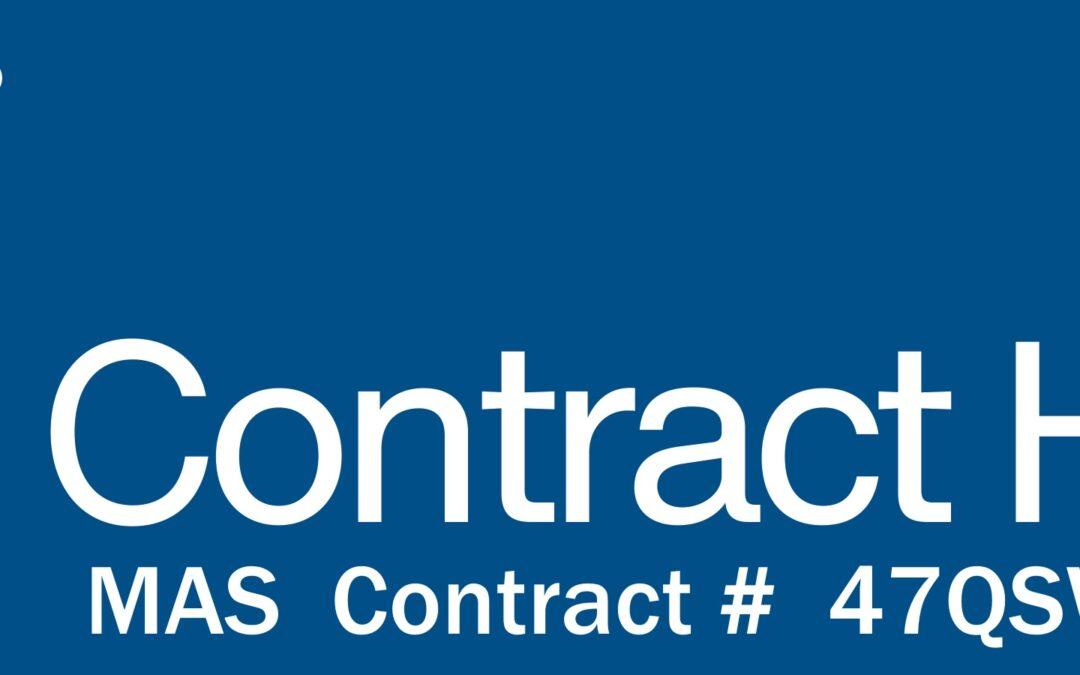 New GSA MAS Contract Awarded #47QSWA21D003W